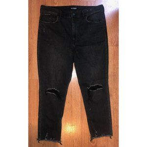 Express Vintage Ankle Extreme High Rise Jeans 14